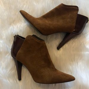 Pelle Moda Boots Women's Size 8 1/2 Brown Suede